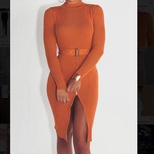Pumpkin spice fall classy dress